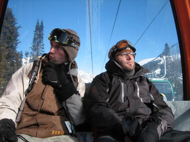 On the gondola at Sunshine Village