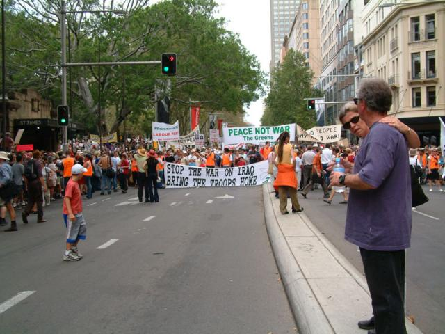 Anti-war protest in Sydney