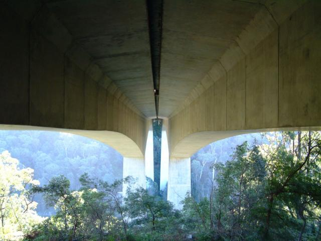 Under a really large bridge