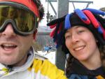 Anita and me on a chair lift